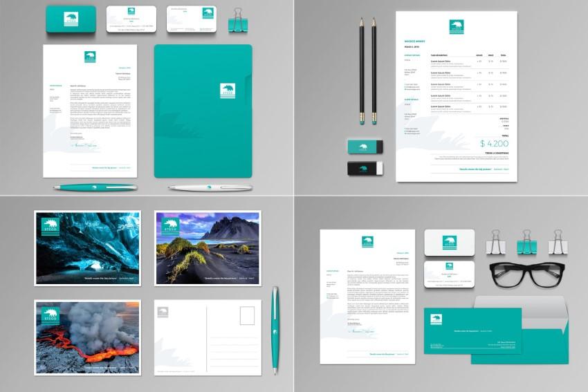 Stego professional stationery design