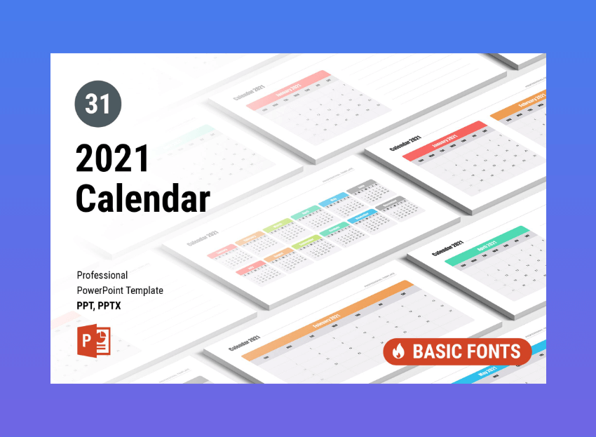 25 Best Powerpoint Calendar Template Ppt Designs For 2020 Presentations