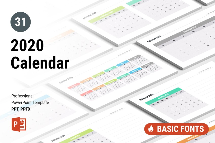 25 Best PowerPoint Calendar Template PPT Designs (For 2020