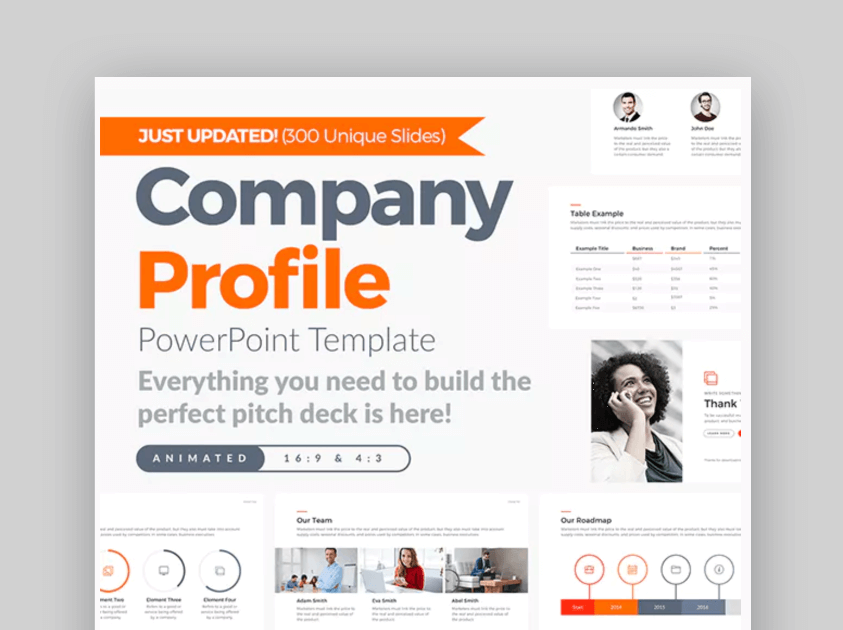 Company Profile PowerPoint  Calendar Template