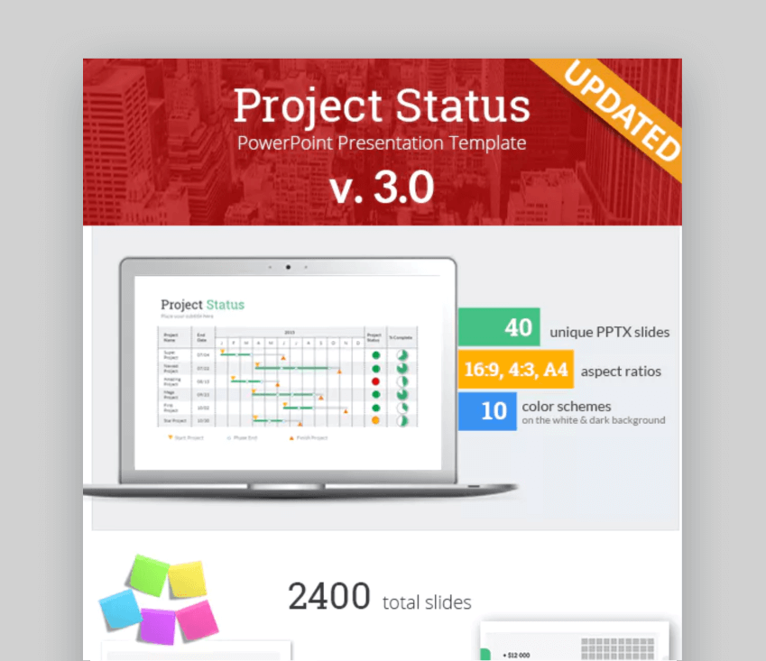 Project Status PowerPoint Design Slides Template