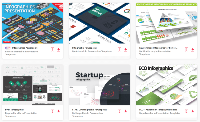 Download infographic templates for PowerPoint from Envato Elements