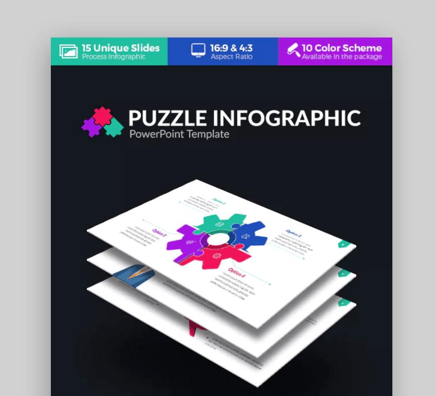 puzzle  infographic presentation