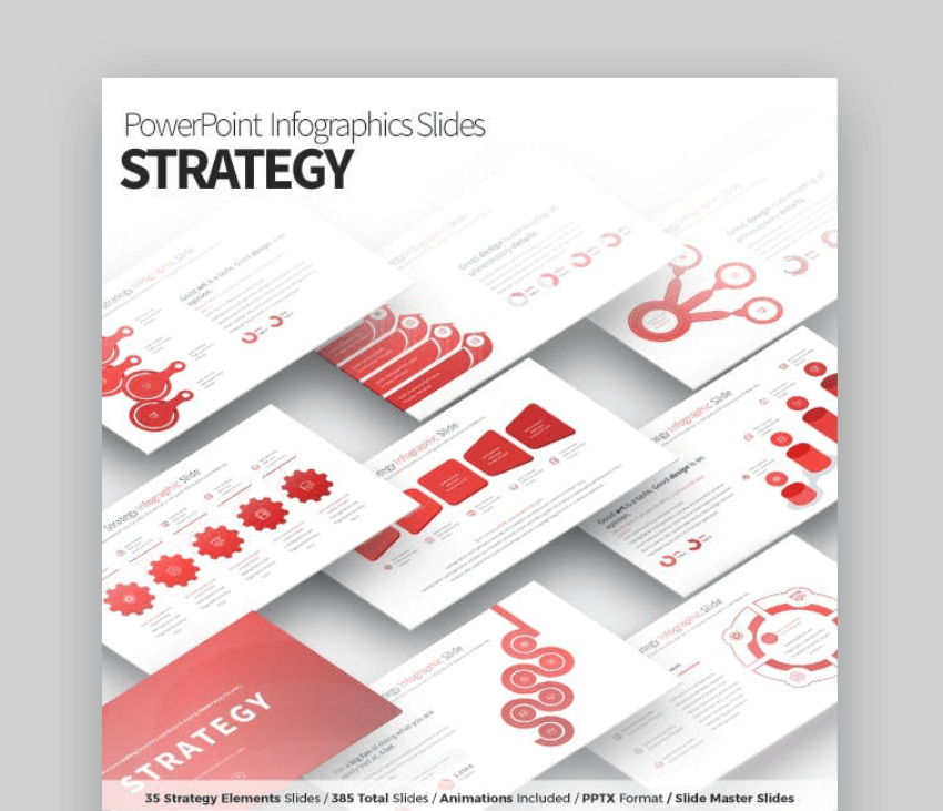 strategy infographic design templates