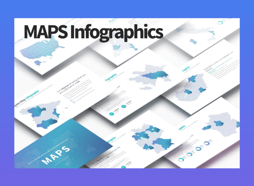 maps infographic powerpoint