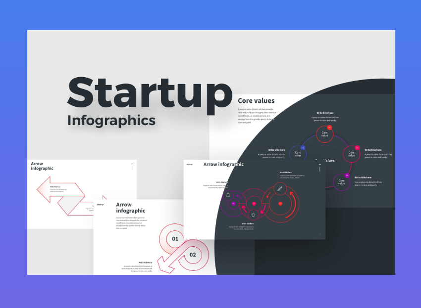 Startup powerpoint graphics