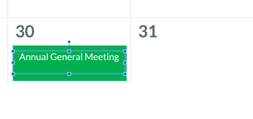 editable calendar for Google Slides