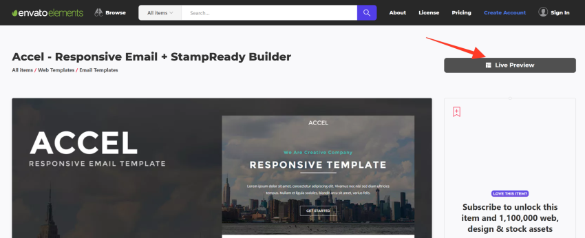 mailchimp newsletter templates download on Envato Elements