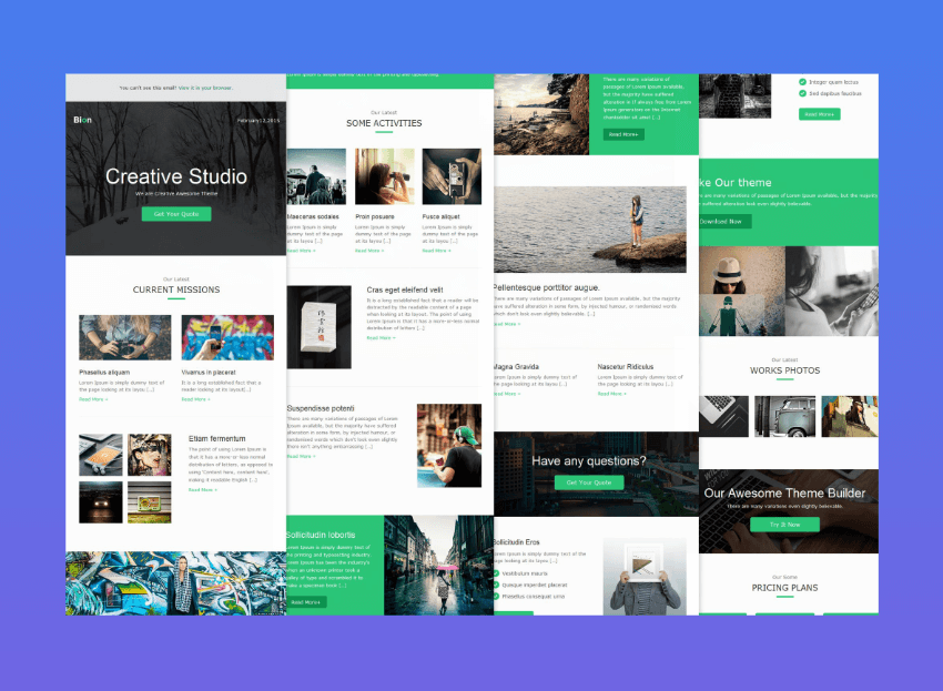 mailchimp newsletter templates download - bion