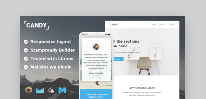 free mailchimp templates - Candy