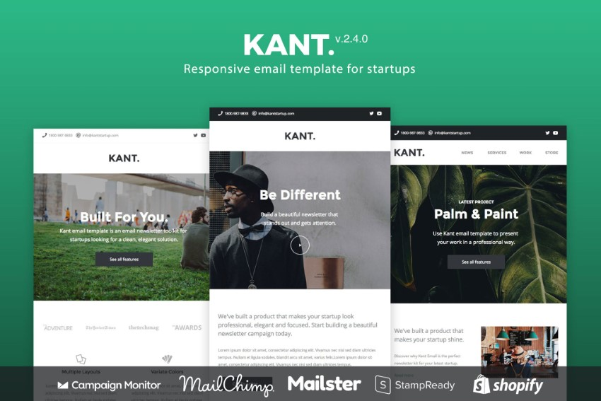 mailchimp newsletter templates  - Kant