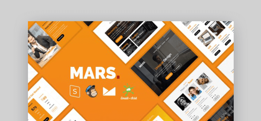 mailchimp newsletter templates - Mars