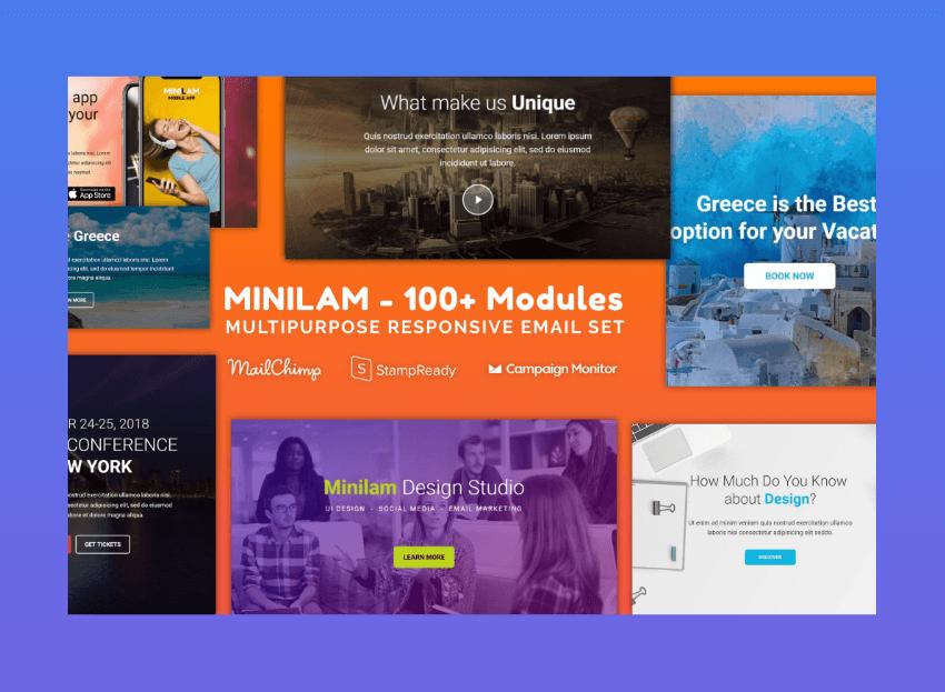 mailchimp examples - minilam