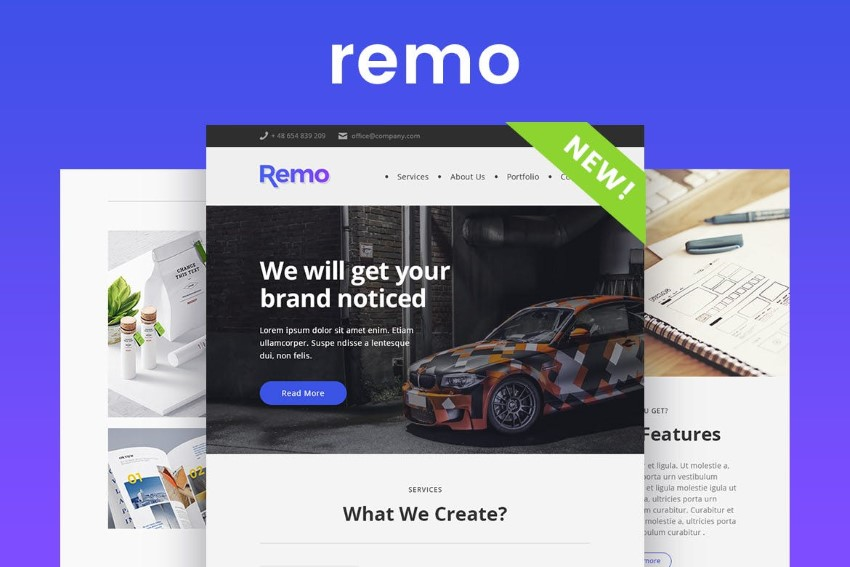 Remo  corporate email newsletter templates