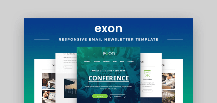 mailchimp newsletter templates - Exon