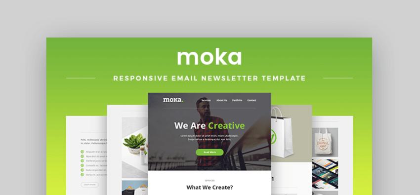 mailchimp newsletter templates _ moka