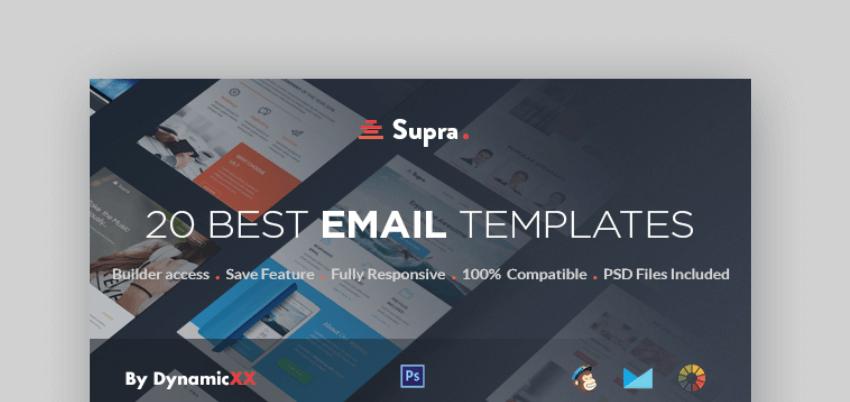 mailchimp newsletter templates - Supra