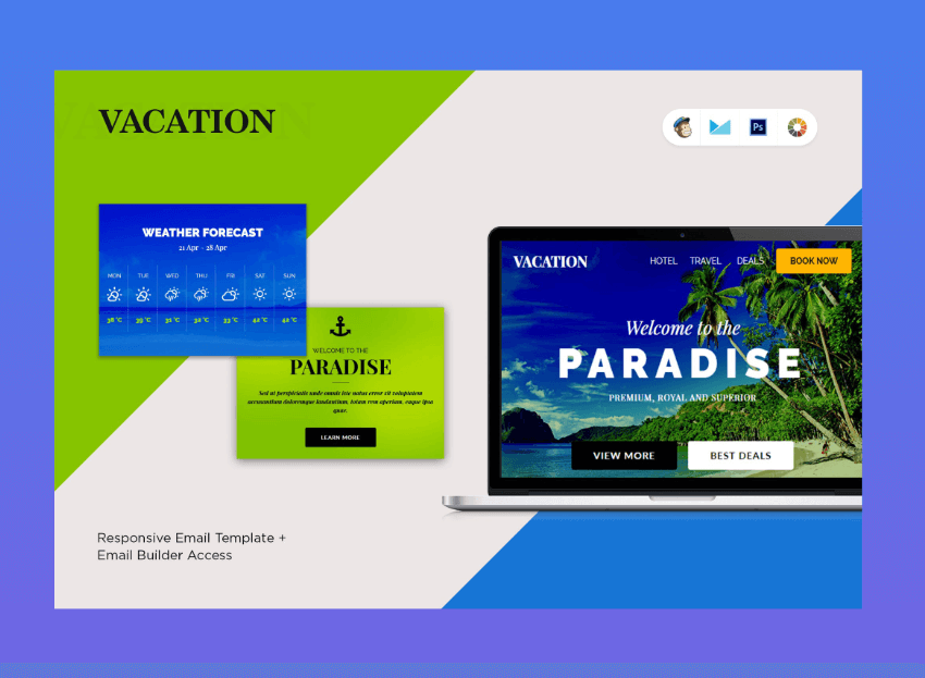 email newsletter templates - Vacation
