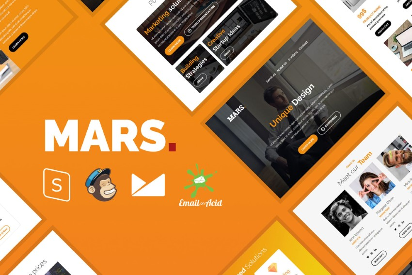 use mars email theme for different  types of marketing automation