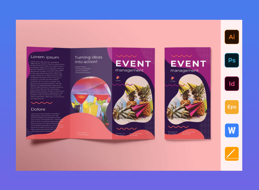 event management word brochure
