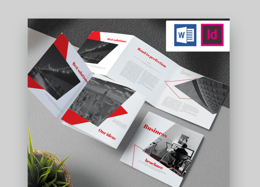 business trifold brochure word