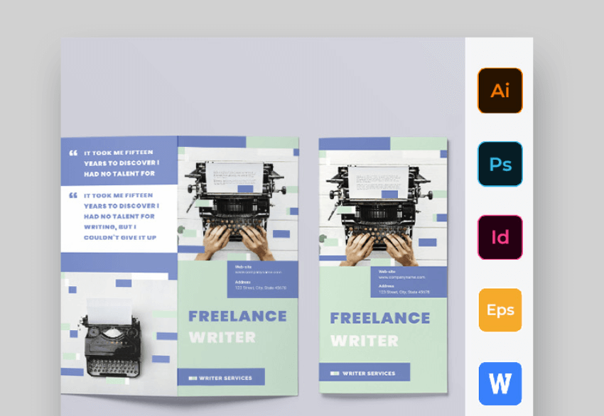 freelance  tri fold brochure template word