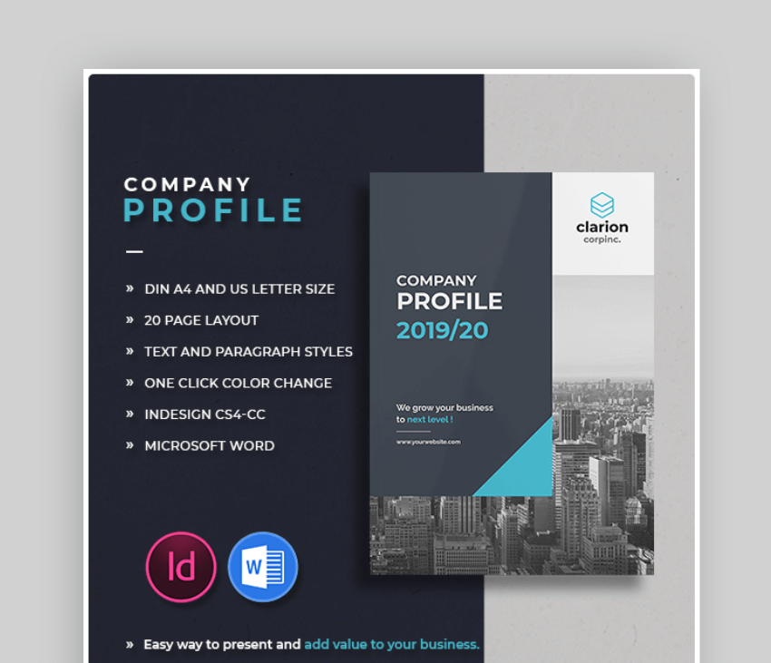 corporate brochure layout word