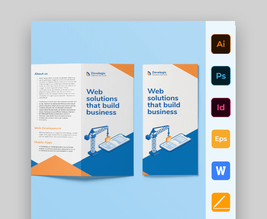 trifold brochure format word