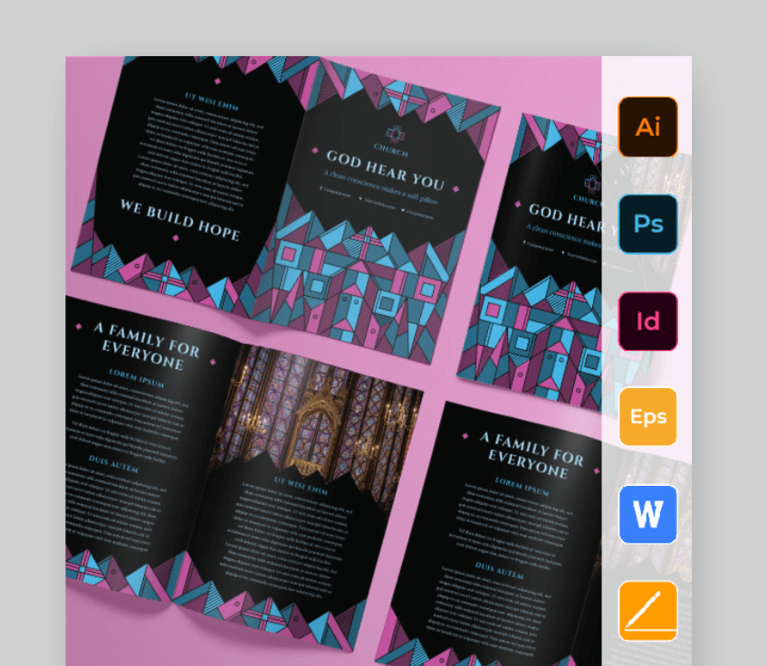 easy brochure template word