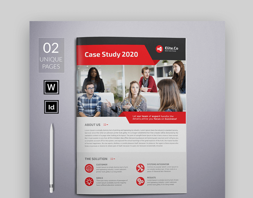 case study word brochure template