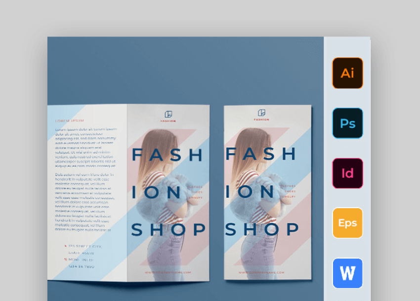fashion shop word brochure template