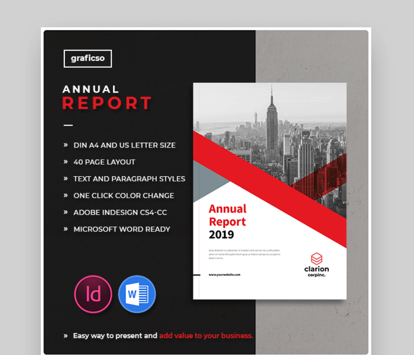 annual report brochure template word