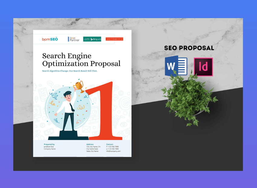 SEO Proposal word brochure template