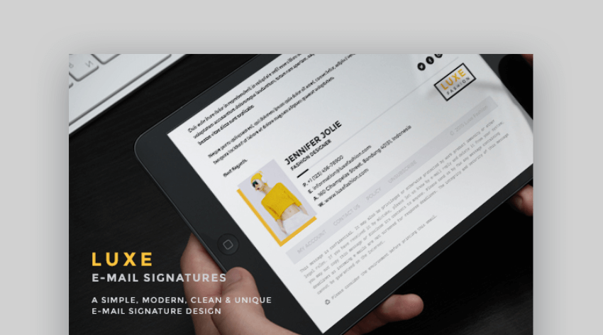 Luxe -  creative email signatures