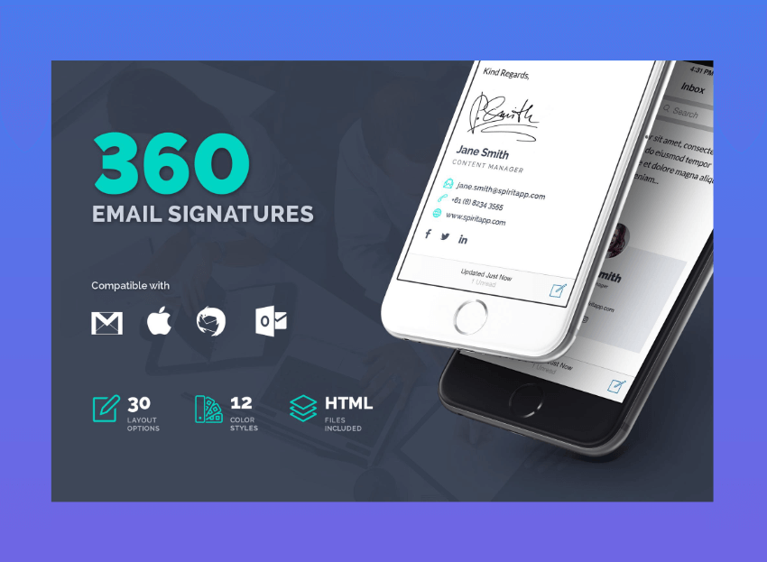 360 template html email signatures