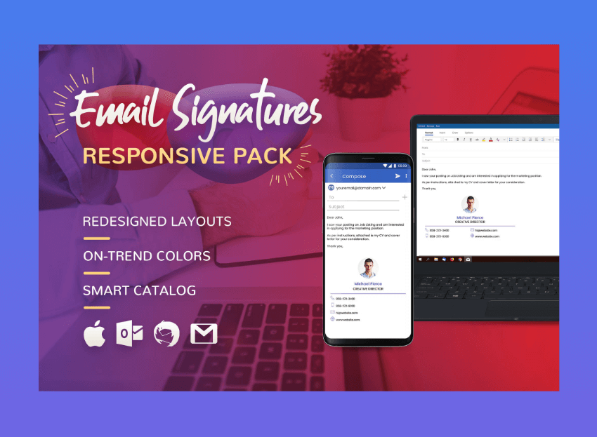 end of email signature templates