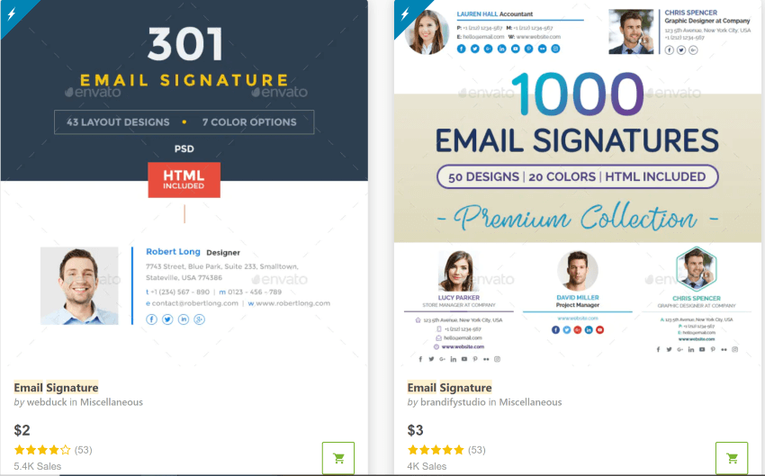 GraphicRiver Email Signatures