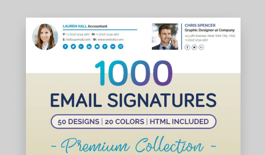 1000 email signature designs