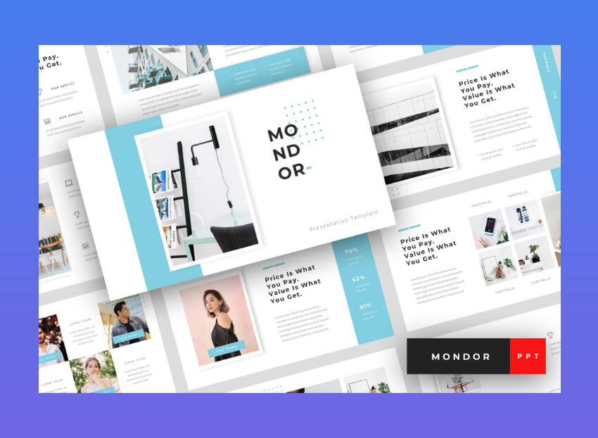 mondor powerpoint templates corporate