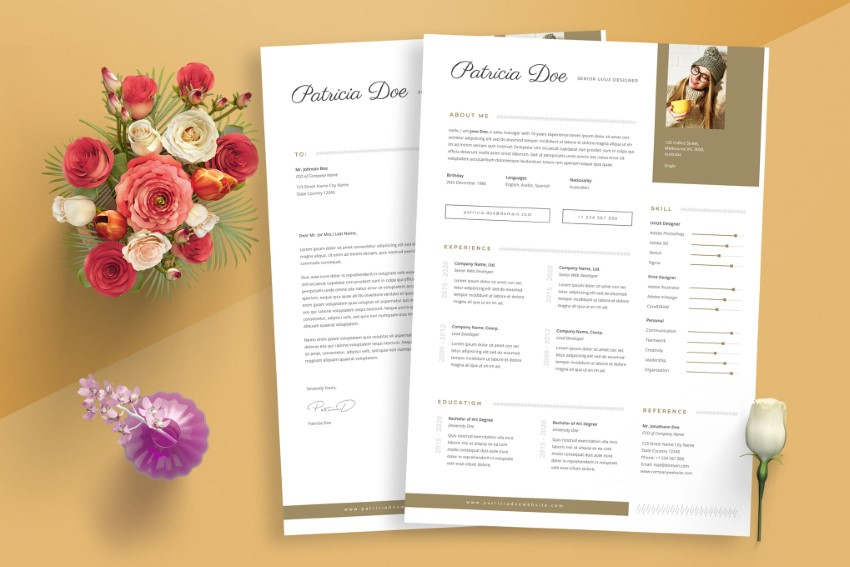 get eye catching resume templates free with an Envato Elements account