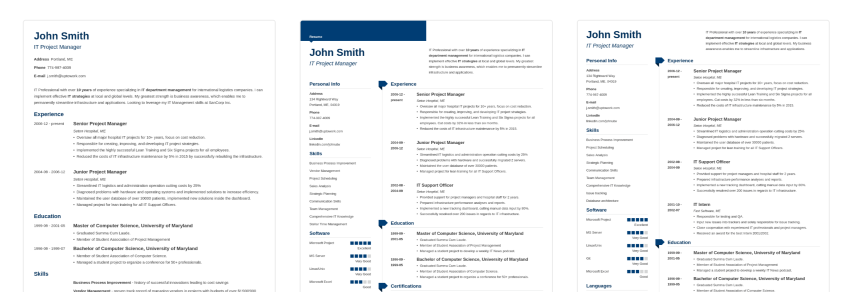 15  free attractive resume cv templates with stylish