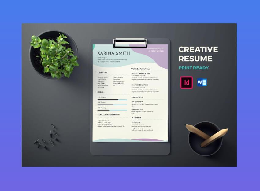 modern minimalist resume