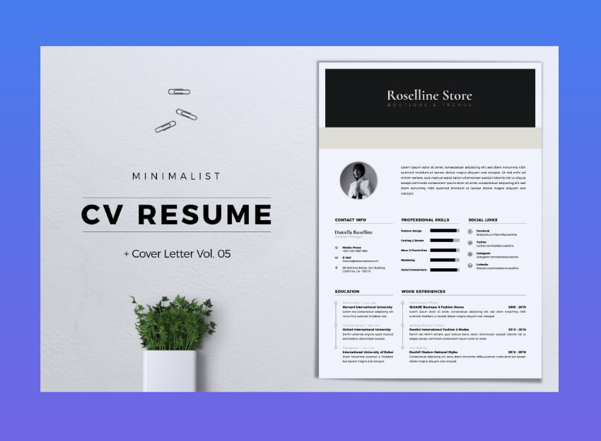 modern design resume templates