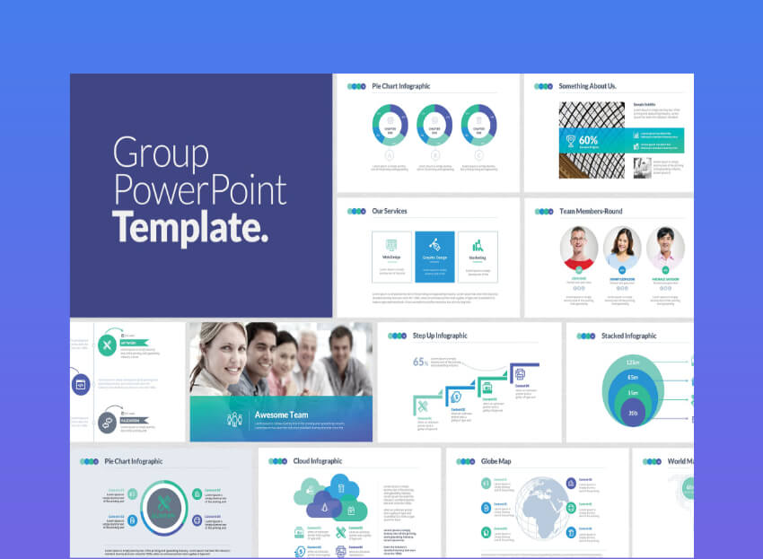 Group interactive powerpoint templates