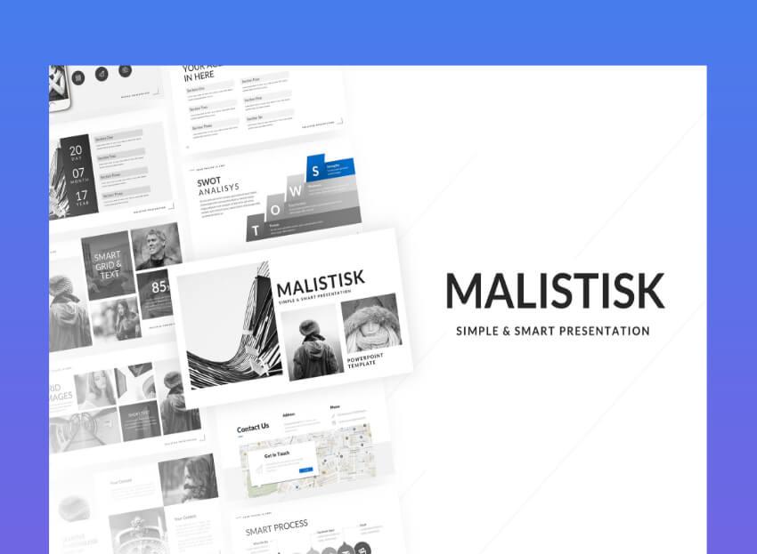 Malistik corporate powerpoint templates