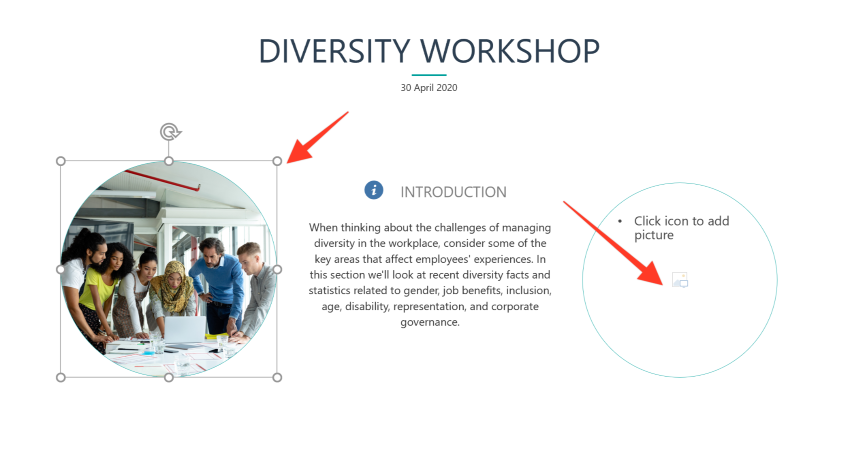 resize image on powerpoint elearning templates