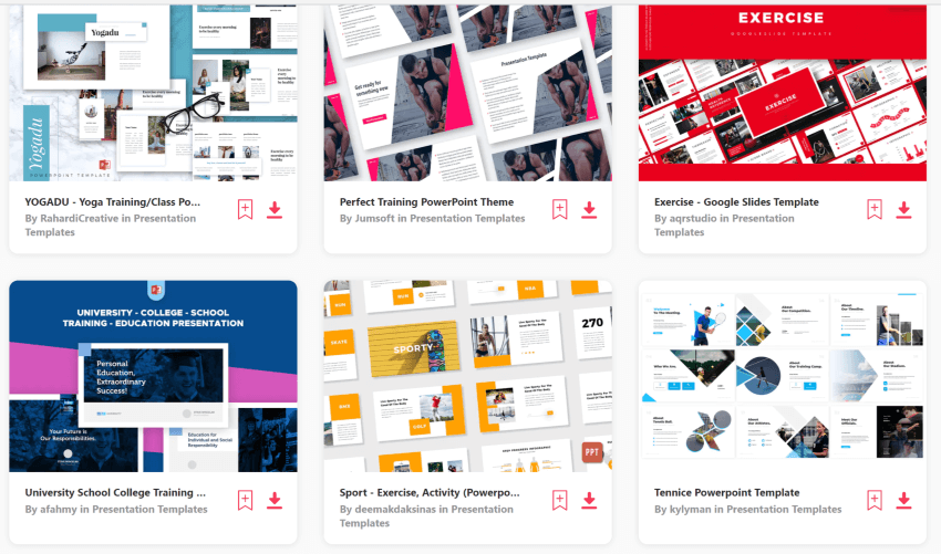 Find training powerpoint templates on Envato Elements