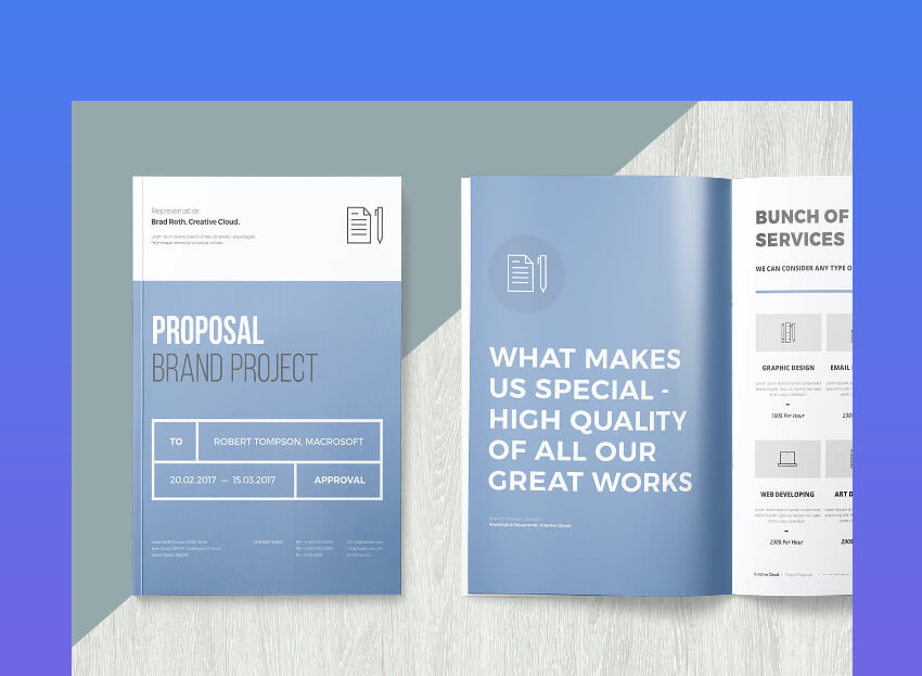 simple project proposal template for brands