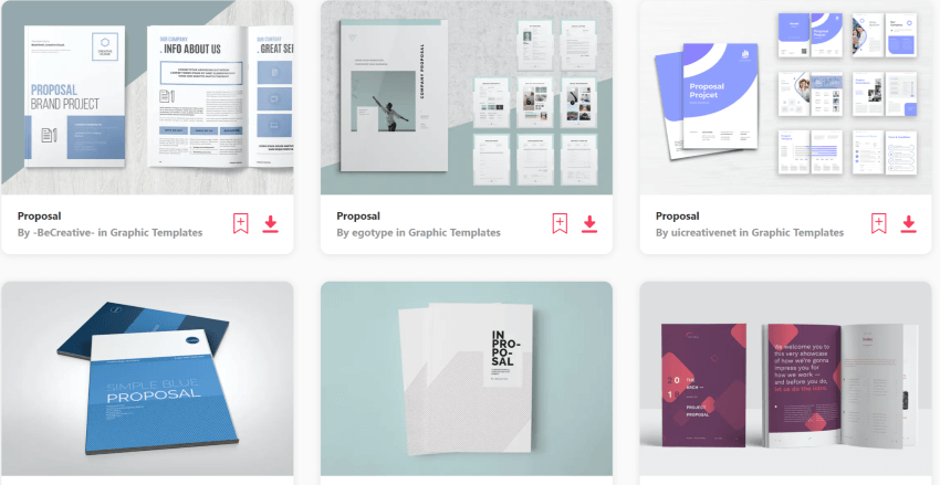 Simple Project Proposal Templates on Envato Elements