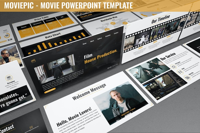 25 Free Movie Powerpoint Ppt Templates For Cinematic Presentations 2020